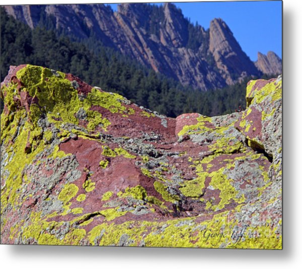 Colorful Rock Mesatrail Metal Print