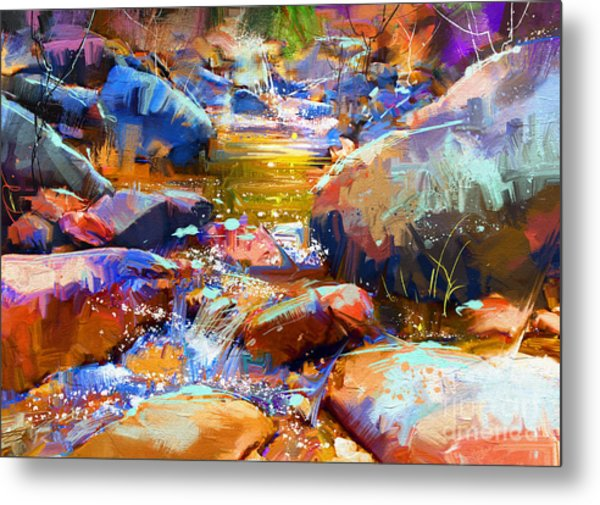 Colorful Stones Metal Print