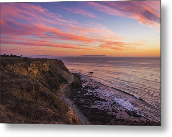 Colorful Sunset At Golden Cove Metal Print
