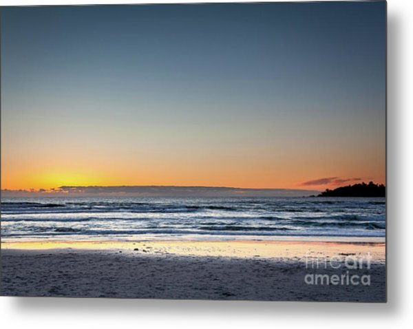Colorful Sunset Over A Desserted Beach Metal Print
