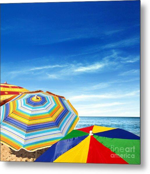 Colorful Sunshades Metal Print