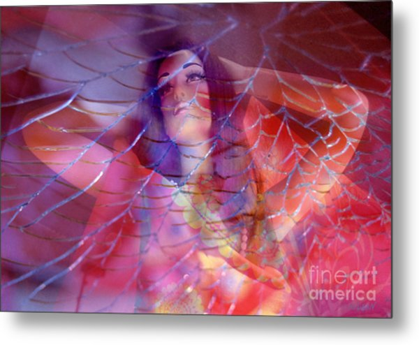 colorful surreal woman mannequin photography - Desdemona Metal Print