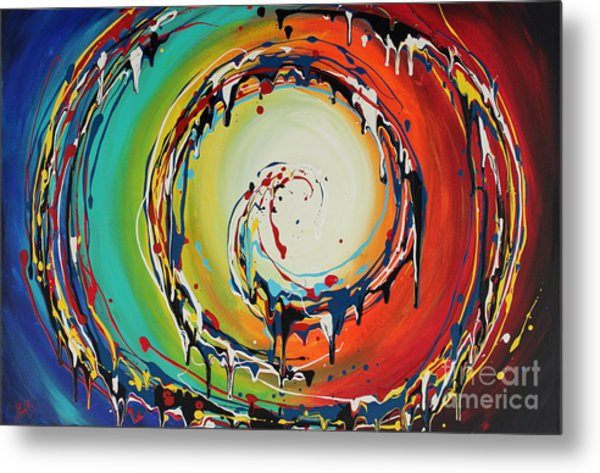 Colorful Swirls Metal Print