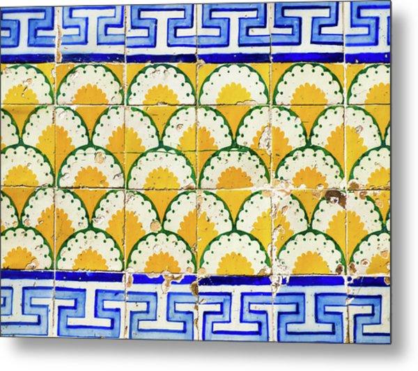 Colorful Vintage Portuguese Tiles Metal Print