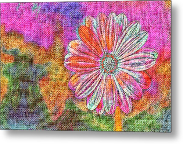 Metal Print featuring the painting Colorful Watercolor Flower by Lita Kelley