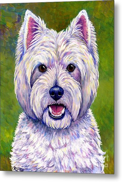 Colorful West Highland White Terrier Dog Metal Print
