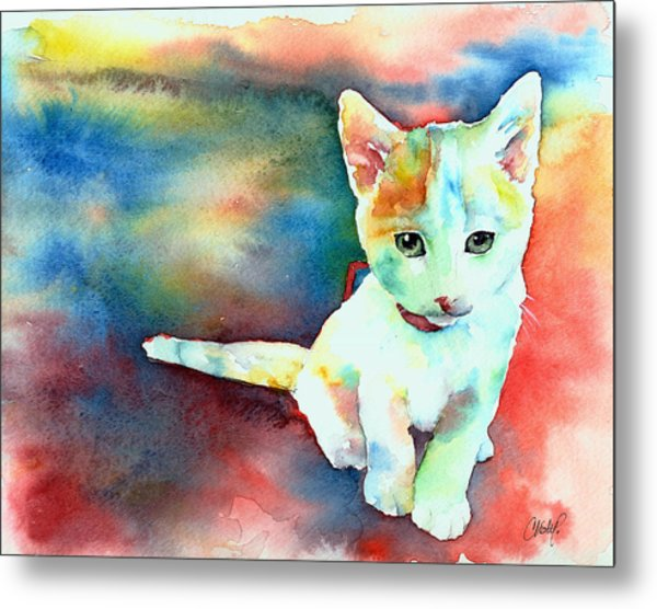 Colorfull Kitty Metal Print