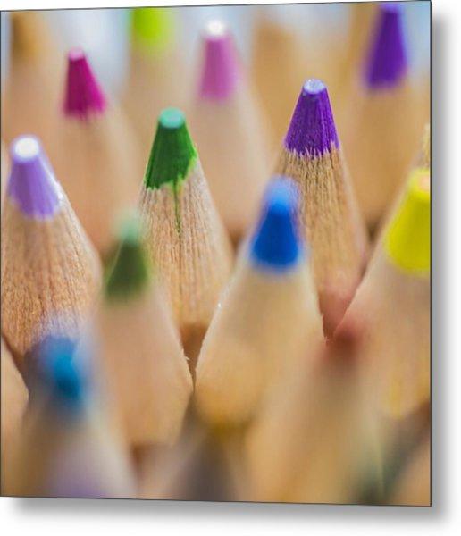 #colormebadd #color #coloredpencils Metal Print