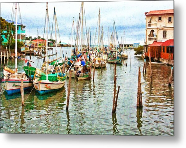 Colors Of Belize - Digital Paint Metal Print