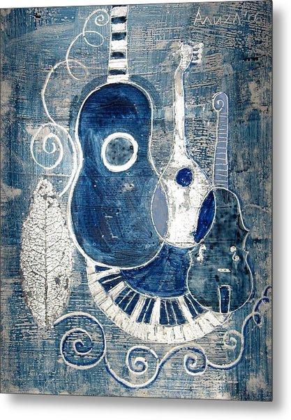 Colors Of Music 6 Metal Print by Aliza Souleyeva-Alexander
