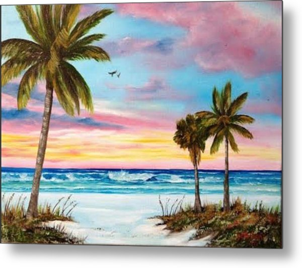 Colors Of Siesta Key Metal Print