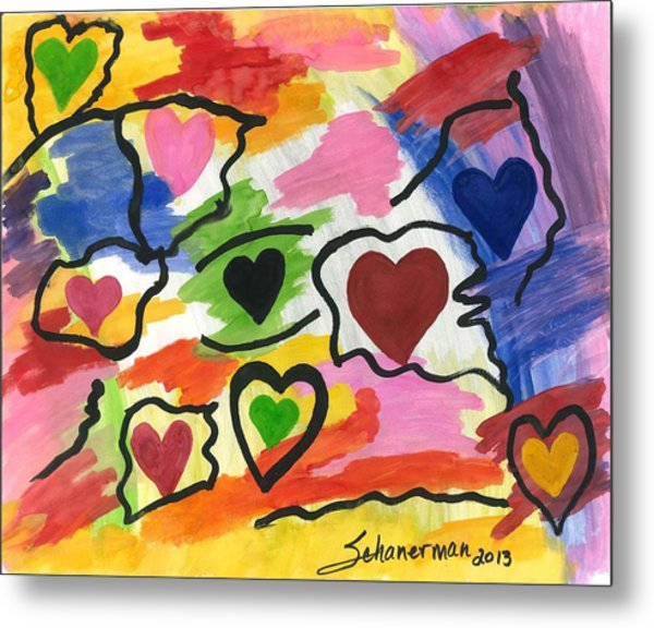 Colors Of The Heart Metal Print