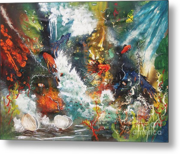 Colors Of The Sea Metal Print