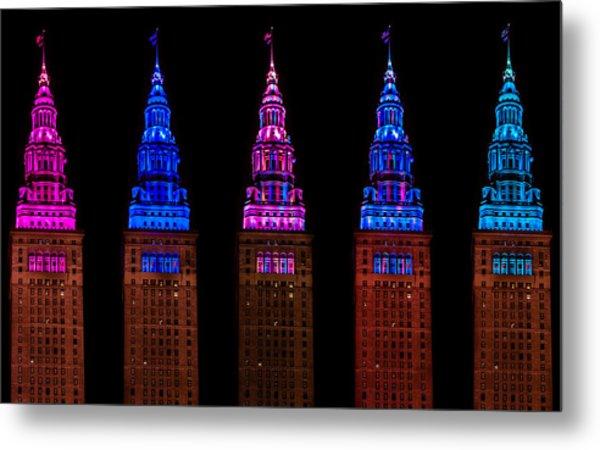 Colors Of The Terminal Tower Metal Print