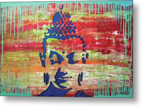 Metal Print featuring the painting Colors That Surround U by Jayime Jean