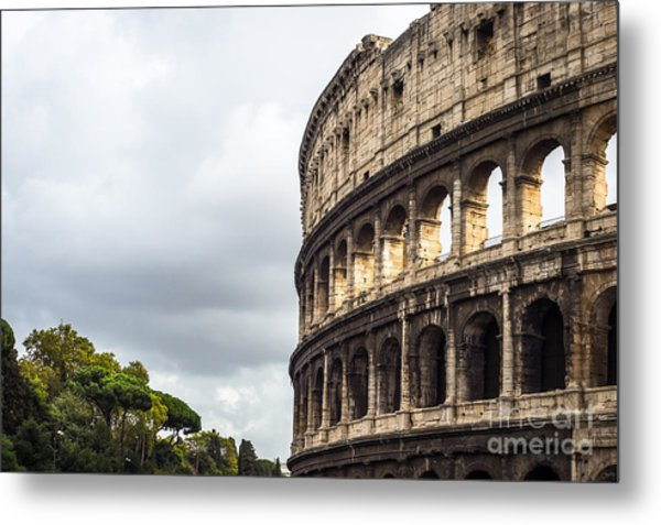 Colosseum Closeup Metal Print