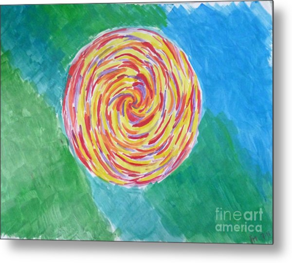 Colour Me Spiral Metal Print