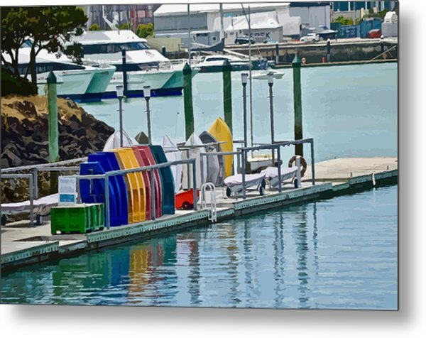Colourful Dinghies Auckland Metal Print
