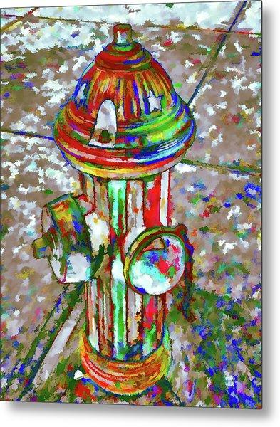 Colourful Hydrant Metal Print