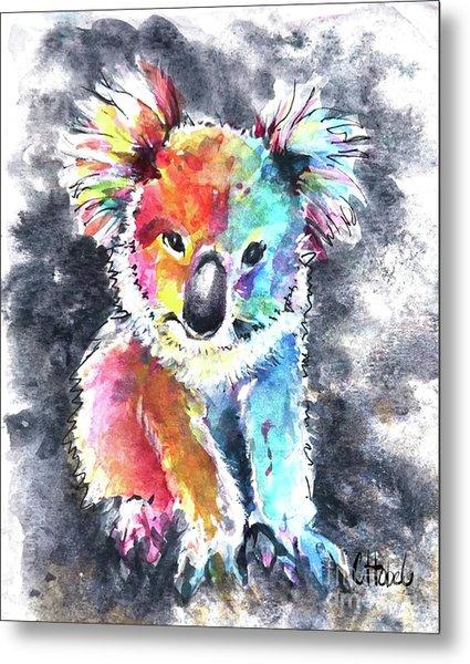 Colourful Koala Metal Print