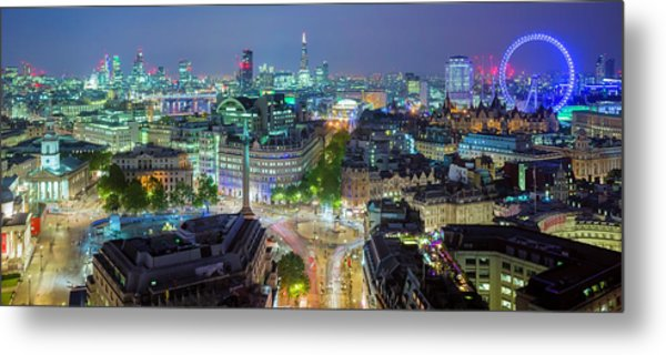 Colourful London Metal Print