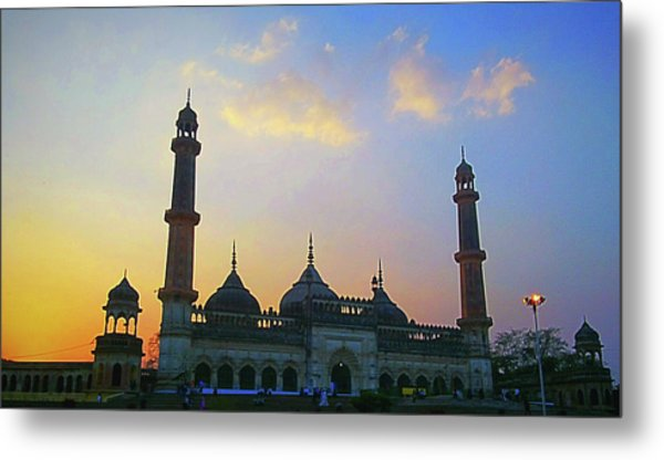 Colourful Sunset At Monument Metal Print