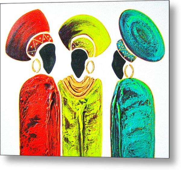 Colourful Trio - Original Artwork Metal Print