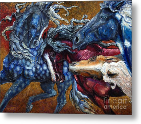 Colts Revolving Together Metal Print