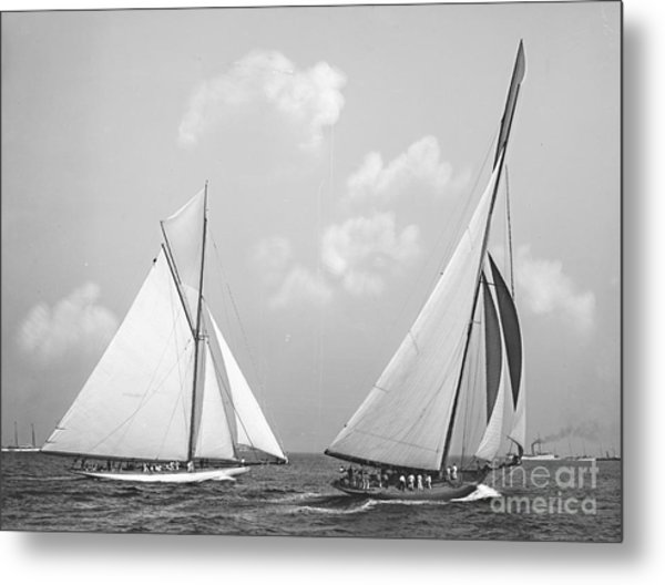 Columbia And Shamrock Race The Americas Cup 1899 Metal Print