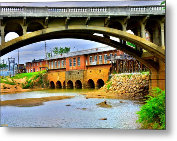 Metal Print featuring the photograph Columbia Canal At Gervais Street Bridge by Lisa Wooten