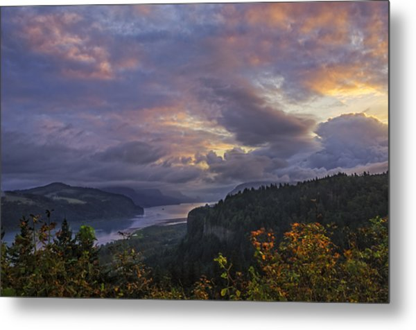 Columbia Gorge Sunrise Metal Print