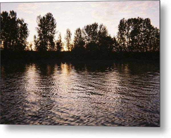 Columbia River Sunrise Metal Print