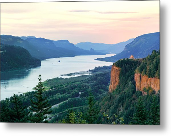 Columbia River With Vista House Metal Print