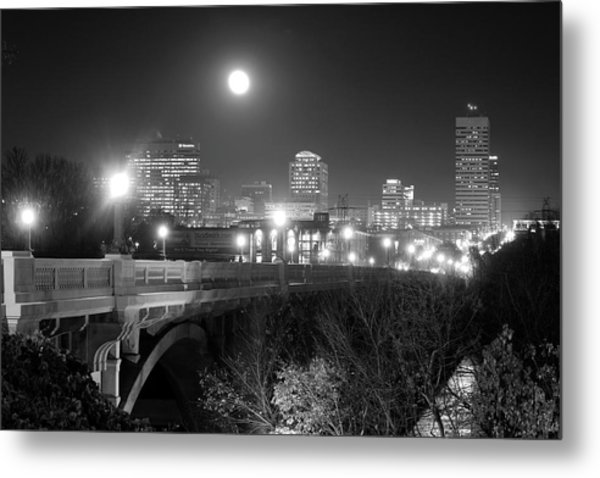 Columbia Skyline At Night Metal Print