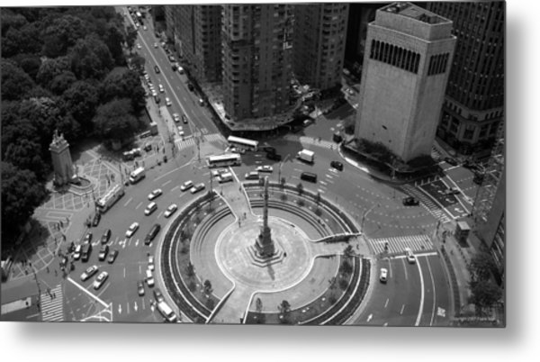 Columbus Circle Nyc C.2005 Metal Print
