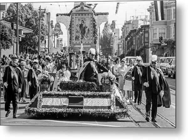 Columbus Day Parade San Francisco Metal Print