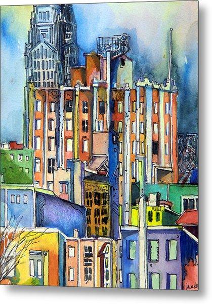 Columbus Ohio City Lights Metal Print