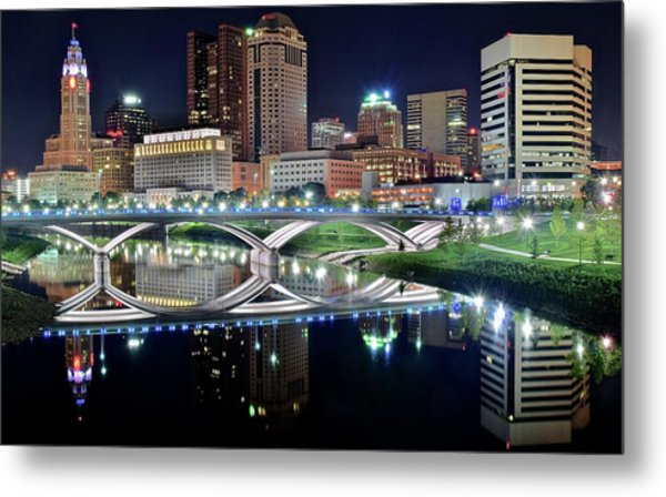 Columbus Over The Scioto Metal Print