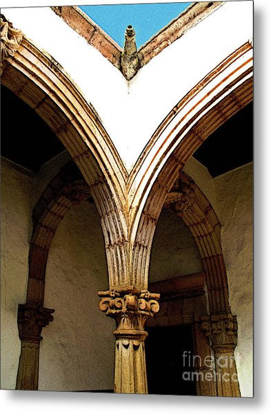 Column And Arch Metal Print by Mexicolors Art Photography