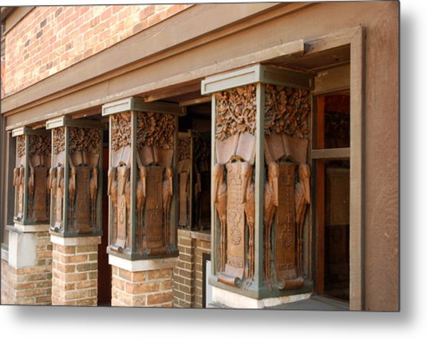 Columns At Frank Lloyd Wright Studio Metal Print