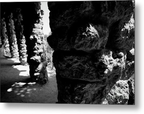 Columns Of The Park Guell Metal Print