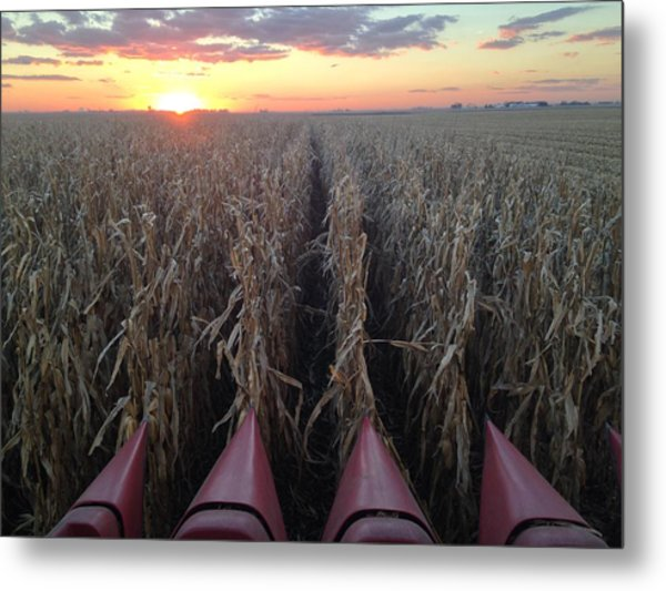 Combine Sunset H Metal Print
