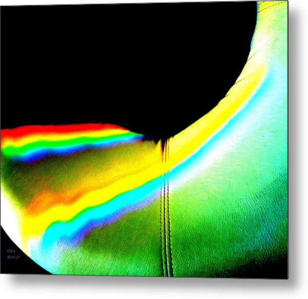 Come-sit In My Rainbow Metal Print