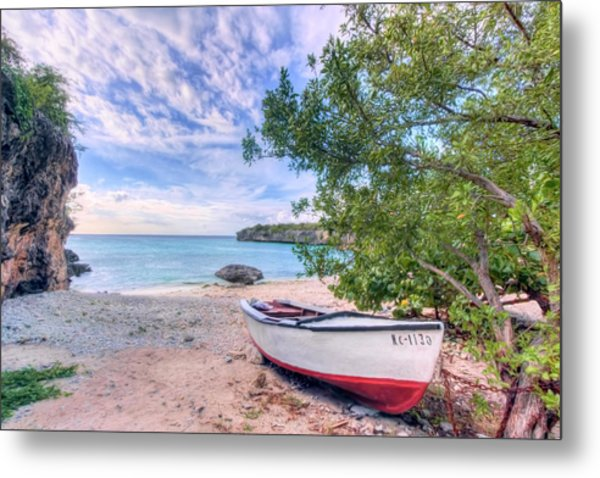 Come To Curacao Metal Print