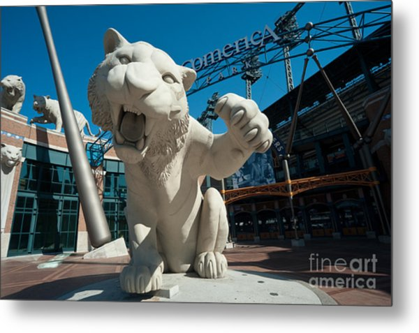 Comerica Park Entrance Metal Print