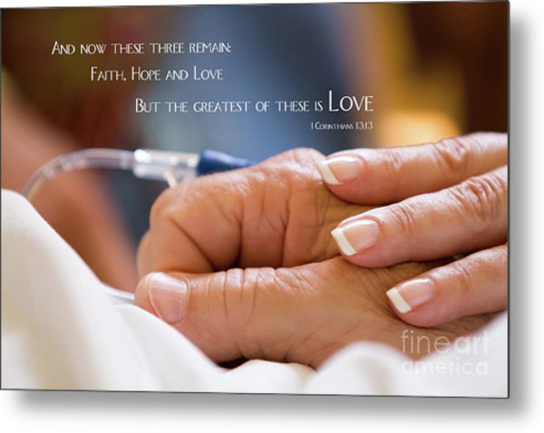 Metal Print featuring the photograph Comforting Hand Of Love by Steven Frame