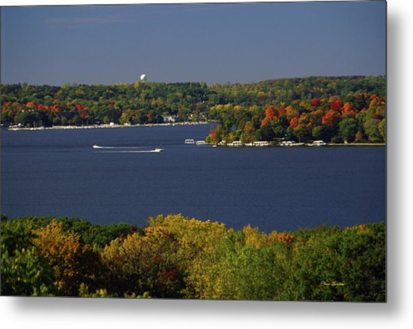 Coming And Going - Lake Geneva Wisconsin Metal Print