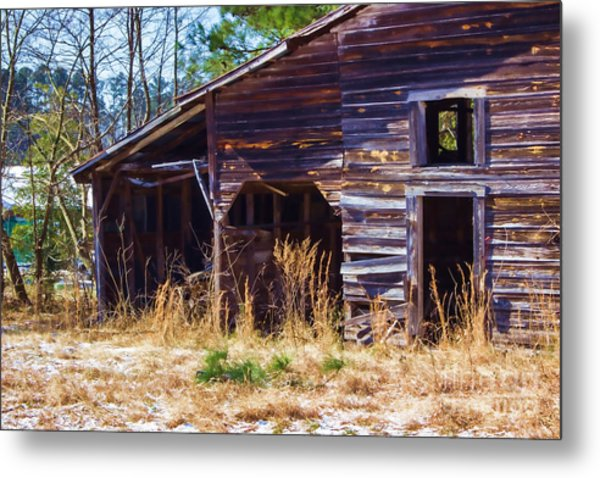 Coming Apart With Character Barn Metal Print