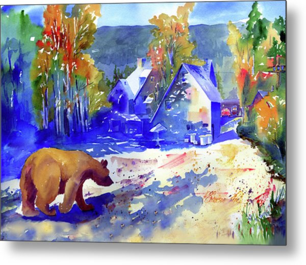 Coming For Dinner At Rainbow Lodge Metal Print