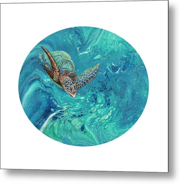 Metal Print featuring the painting Coming Out Of The Depths by Darice Machel McGuire